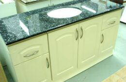Off-white Vanity with Granite Counter Top