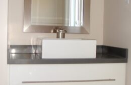 High Gloss White Suspended Vanity