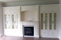 White Fireplace Wall Unit