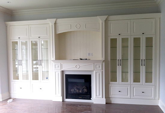 White Fireplace Wall Unit Zoom in - Wall Unit Jfcanada